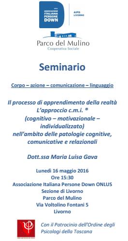 Seminario Dott.ssa Maria Luisa Gava